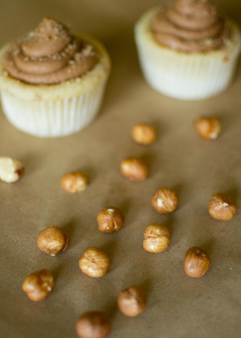 hazelnut cake or cupcakes