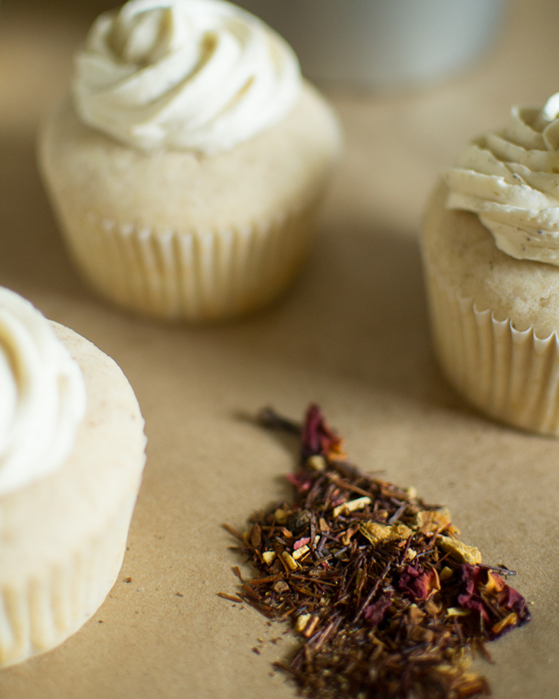 white chocolate chai cupcakes