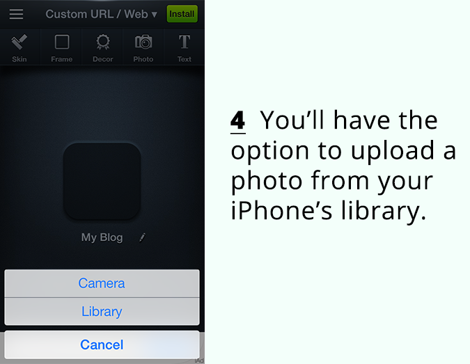 how to add icon to iphone