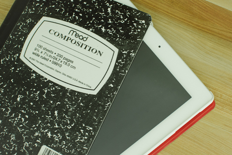diy composition book ipad cover
