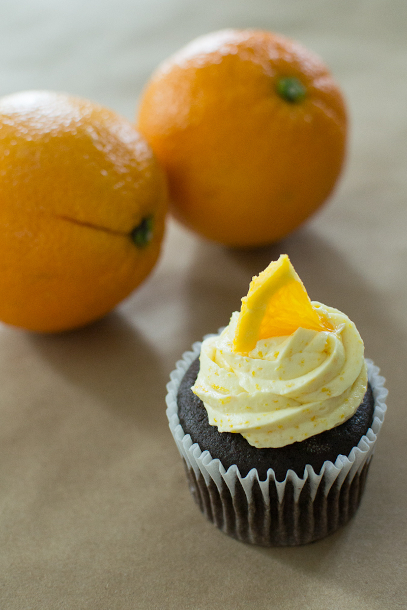 orange buttercream frosting