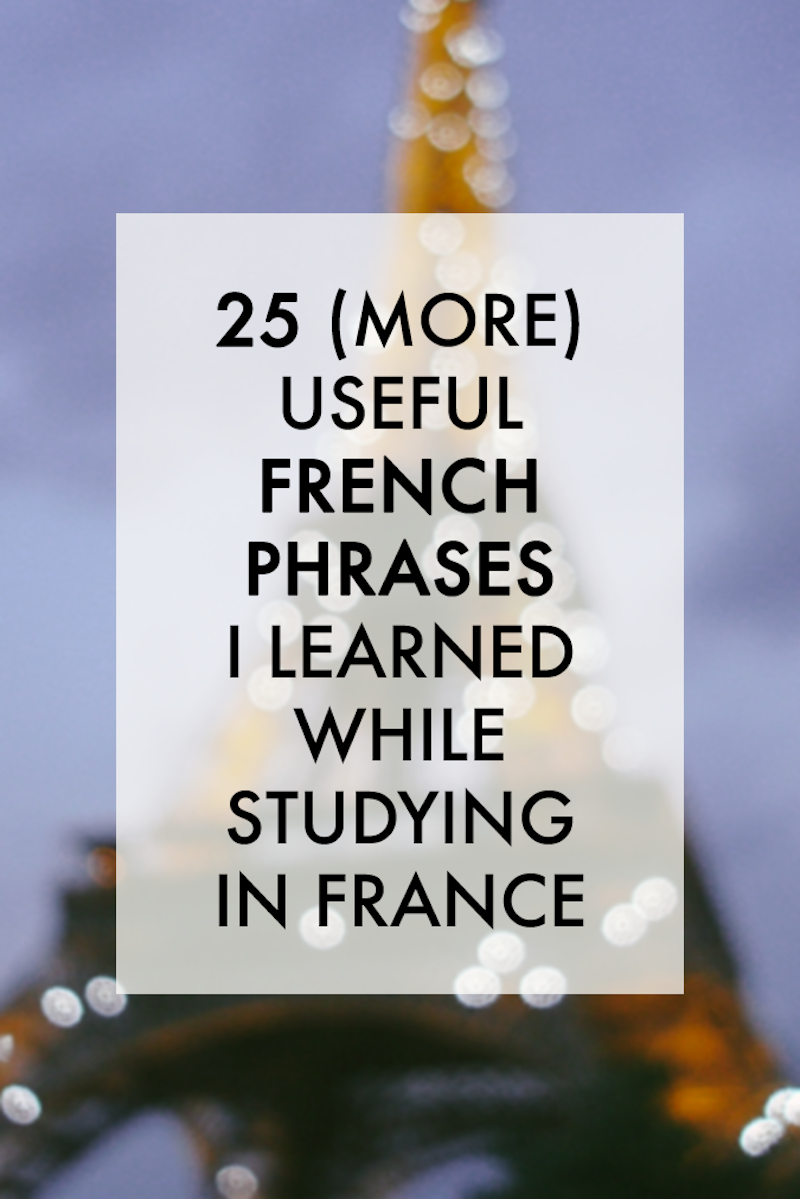 25 useful french phrases
