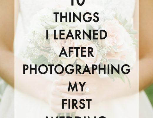 photographing a wedding