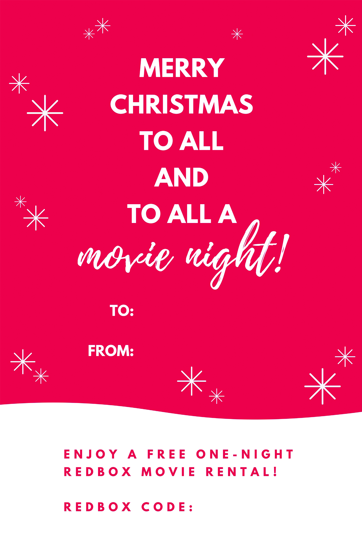picture regarding Redbox Printable known as Free of charge Printable: Redbox Video Xmas Reward Tags - Maurine