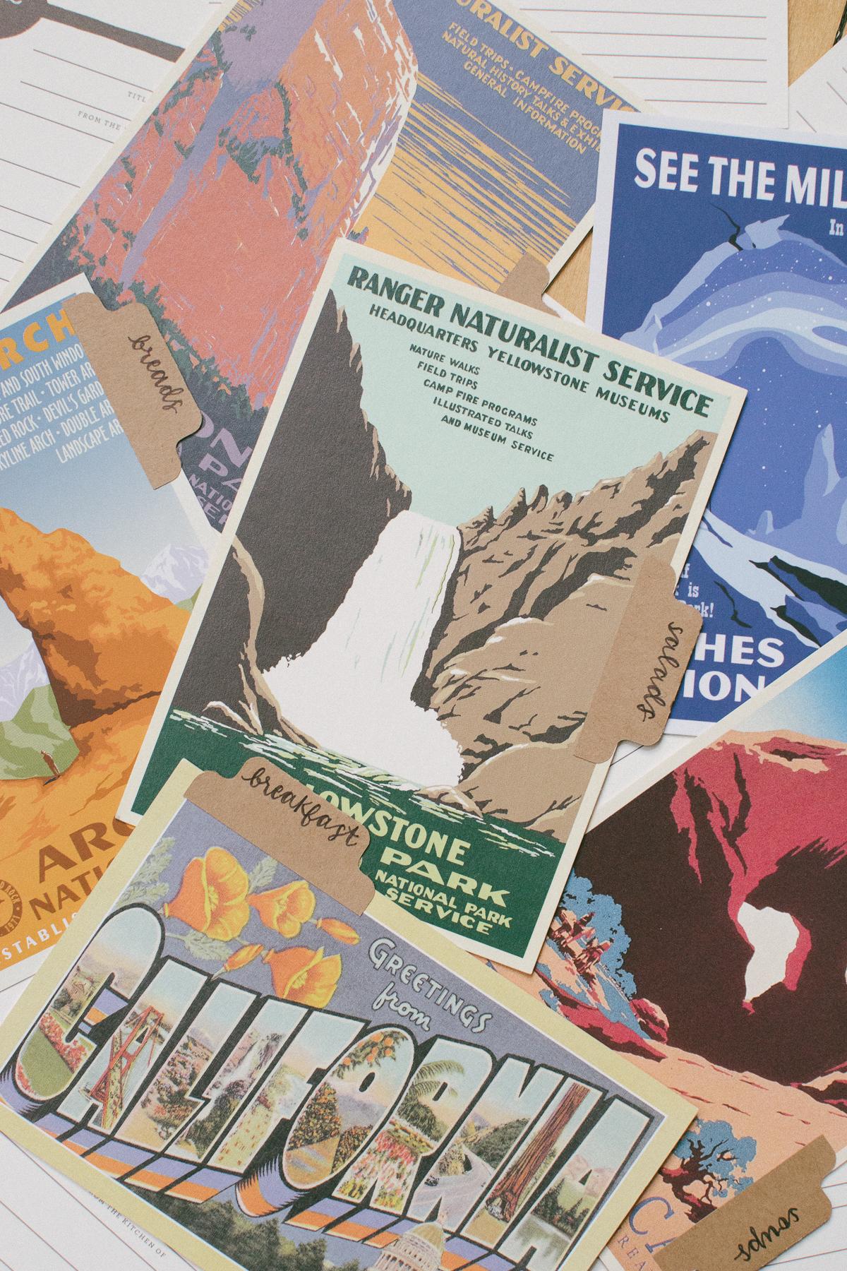 vintage style postcards