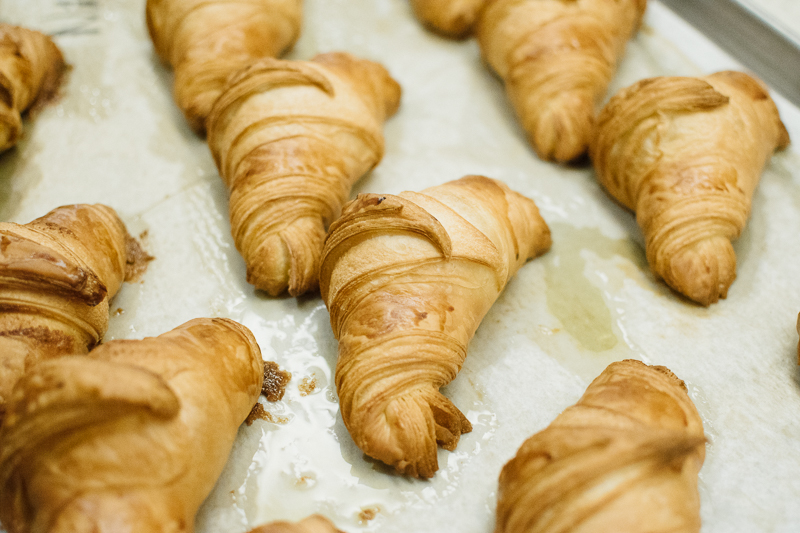 baking authentic french croissants