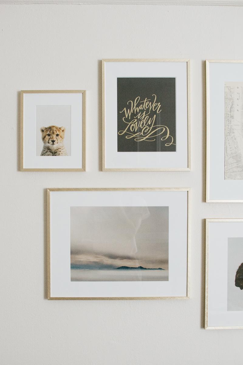 modern gallery wall